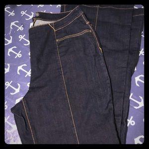 INC dark wash denim jeans